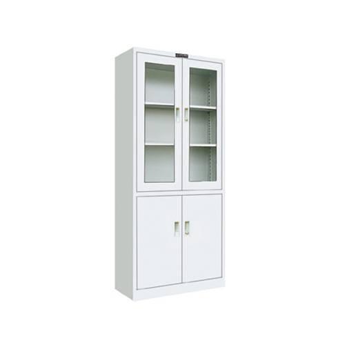 2 drawer glass door metal cabinet