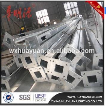 Tapered square light pole with hot dip galvanizing and powder coating