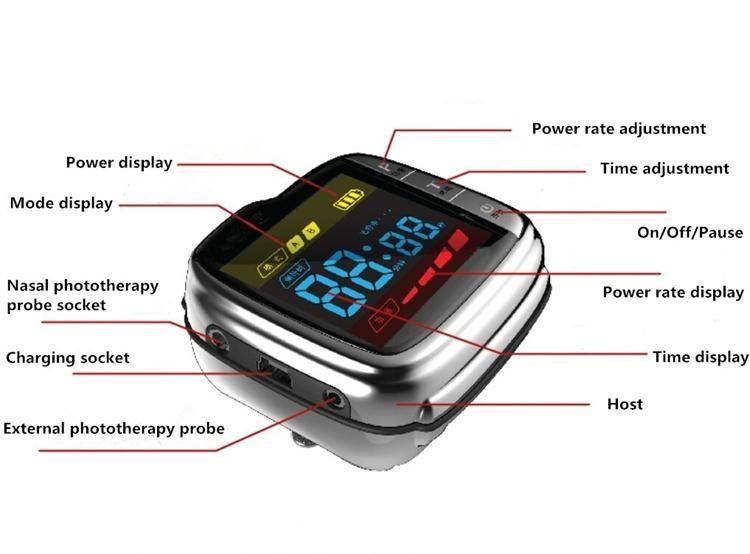 CE 650nm china Factory directly selling soft laser light therapy watch