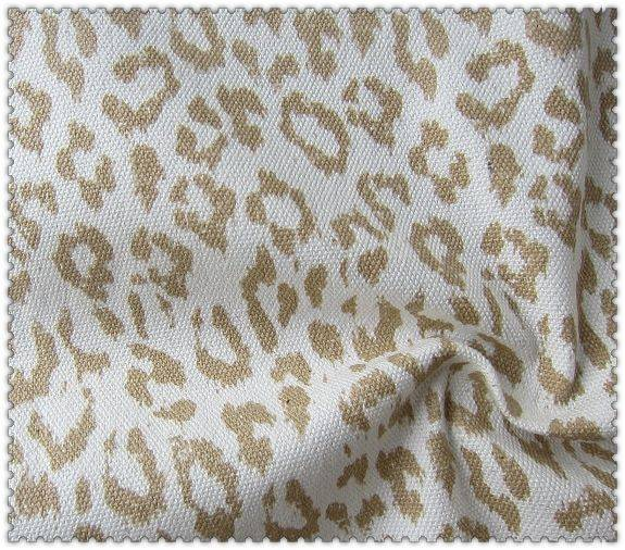 100% cotton canvas printed leopard