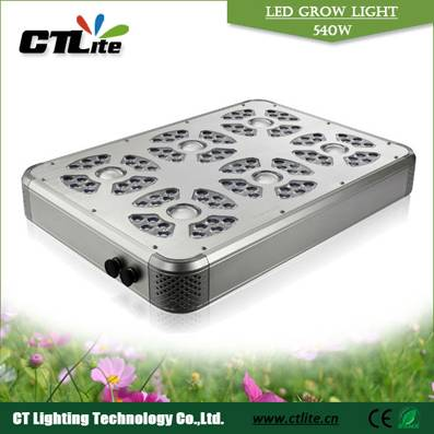Aluminum Housing 540w LED grow light Combination of supper power and High power LEDs
