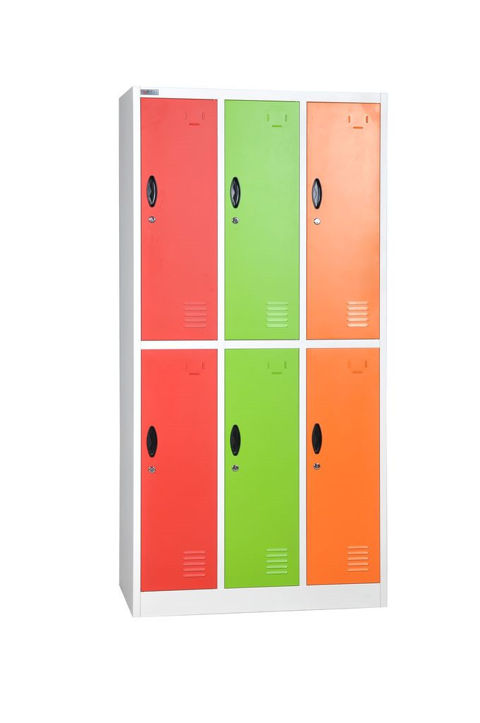 new products clothes cabinet design steel wardrobe 6 door locker