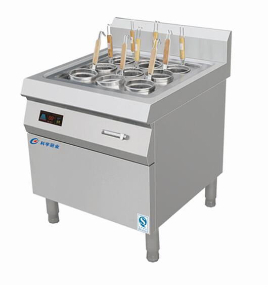 Electromagnetic nine-head pasta cooker