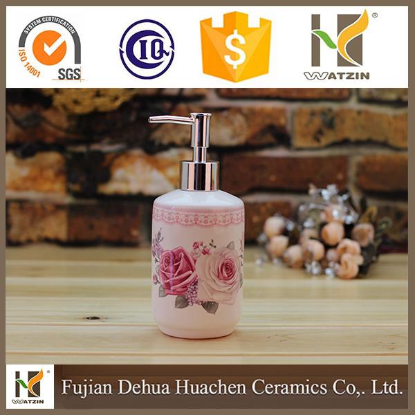 white ceramic soap dispenser pump