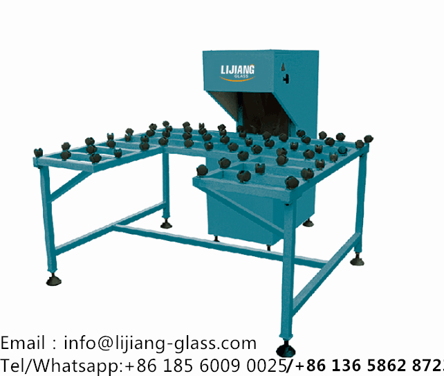Glass edge polishing machine for insulating glass processing machinery