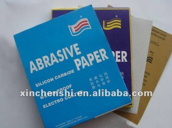 electro coated silicon carbide water proof abrasive paper