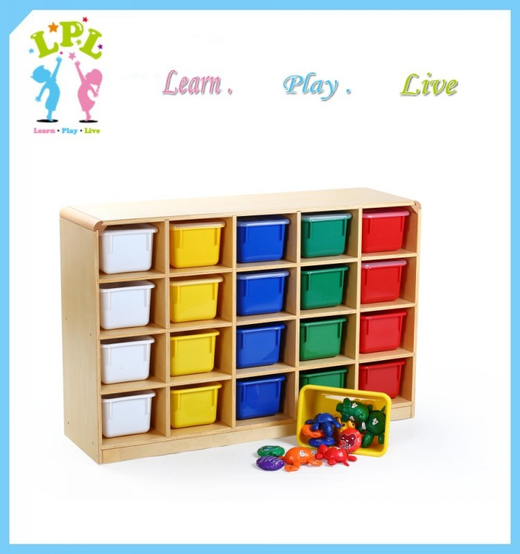 Professional eco friendly toy storage cabinet kindergarten furniture