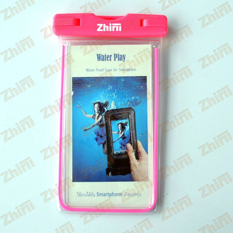 High Quality PVC Material Cartoon Logo Printed Waterproof Mobile Phone Bag