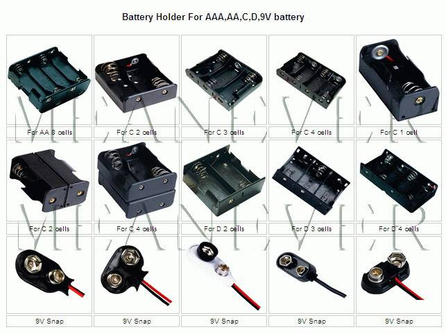 Battery Holder--For Lithium button cell battery and pencil battery