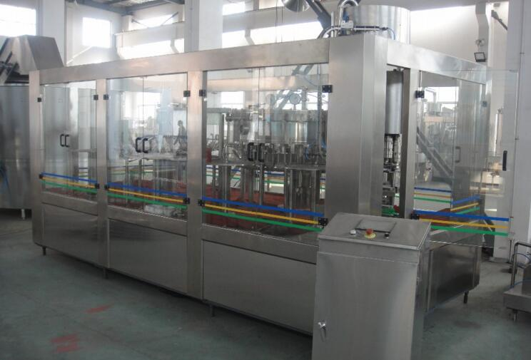 automatic 3 in 1 soda water filling machine/coca cola filling machine/beverage filling line