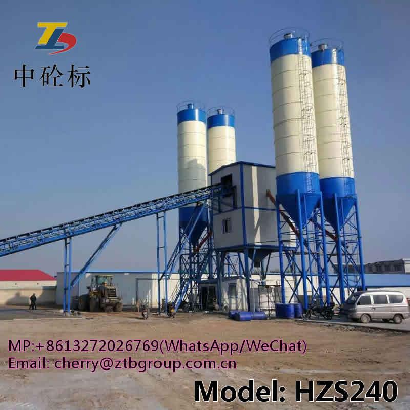 HZS240 concrete batching plant and concrete batching plant