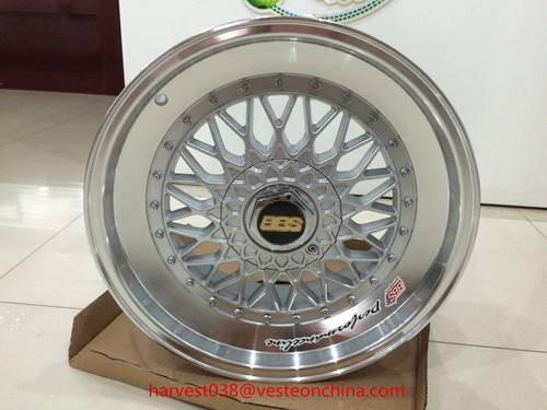 15'' 16'' 17'' inch silver finishing bbs rs alloy wheel rim