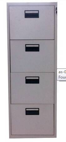 Vertical Four Drawer Steel Cabinet / Four Drawer File Cabinet