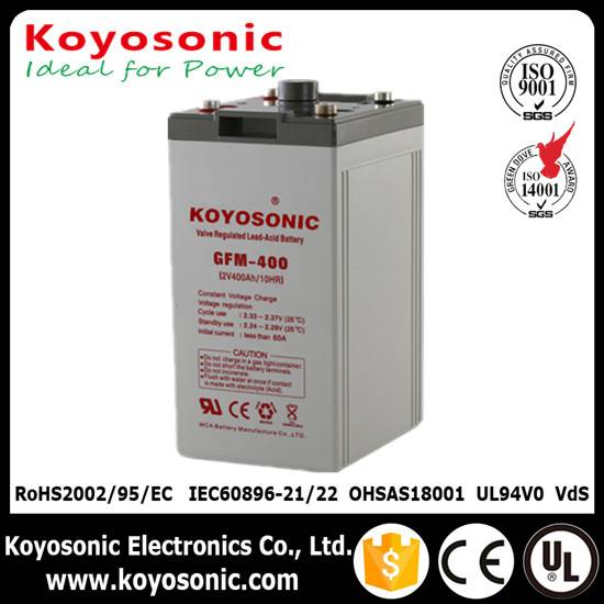Long Service Life Sealed Lead Acid Battery 2V 400Ah AGM battery