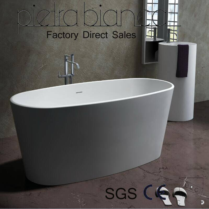 Corian Solid Surface Freestanding Bathtub with Cupc Approval (PB1004)