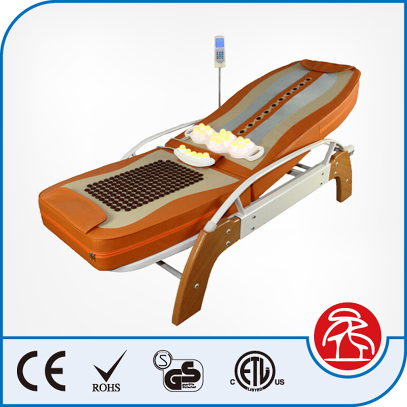 Electric Rolling Jade Stone Full Body Massage Bed Korea