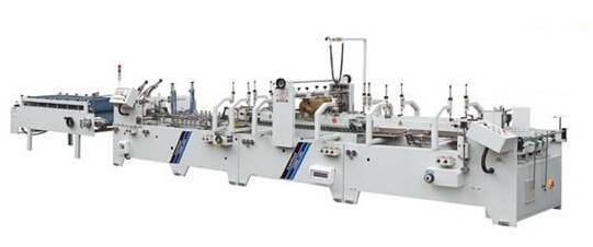 Box crash lock bottom folder gluer machine