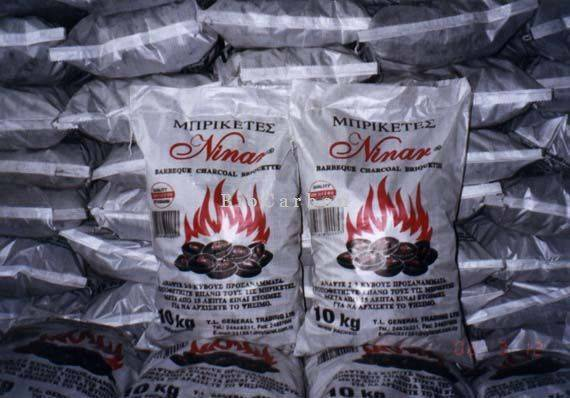 10 kg polypropylene bags with Charcoal