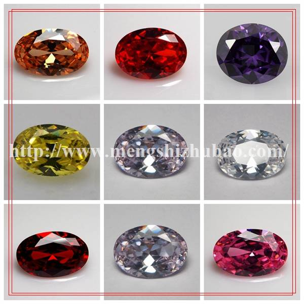 lab created cubic zirconia oval egg shape cz prices