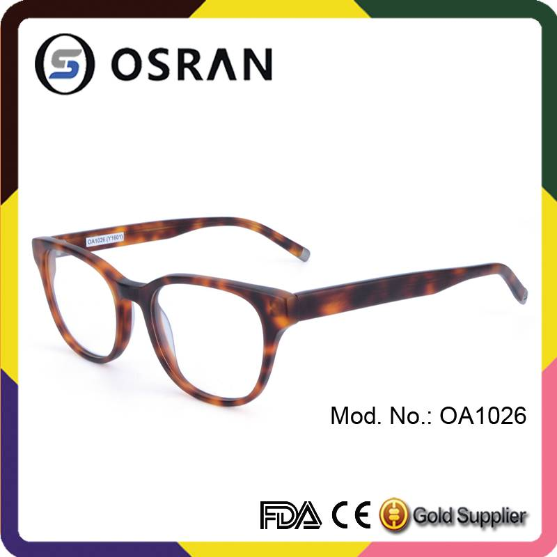 Latest Fashion Retro Style Round Acetate Eyeglass For unisex