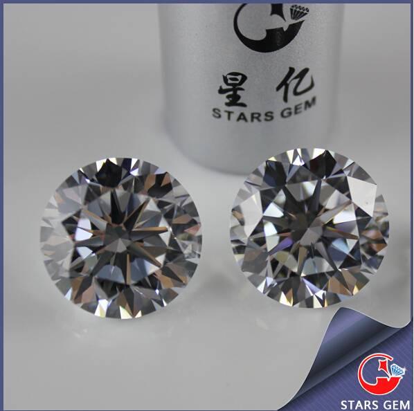 Shining Synthetic Diamond Star Cut Cubic Zriconia
