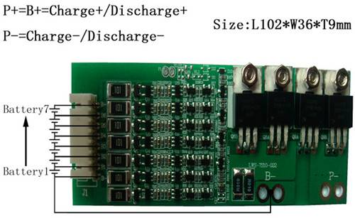 Pcb/Pcm/Bms  For 25.9V (7S)Li-ion Battery Packs