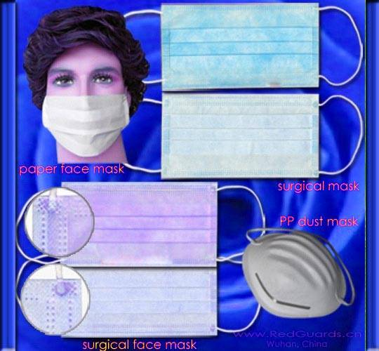 Surgeon Face Mask, Paper Face Mask, Carbon Mask