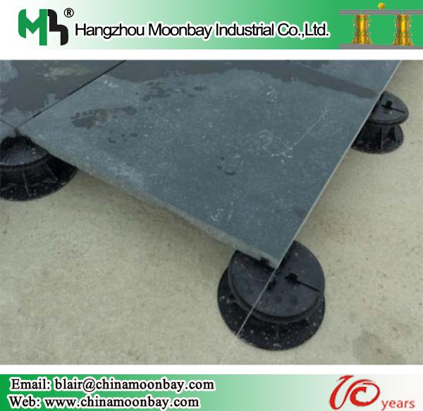 adjustable plastic pedestal outdoor stone concrete tiles support
