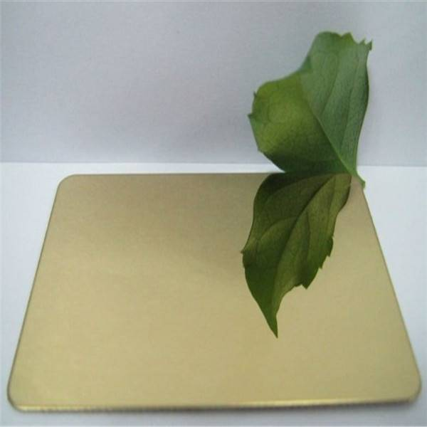 Ti-Golden Mirror Stainless Steel Decorative Sheet