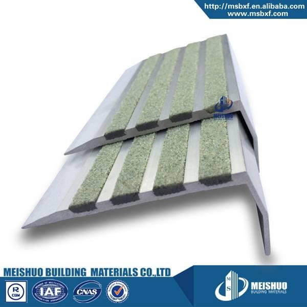 anti slip aluminum profile stair tile nosing