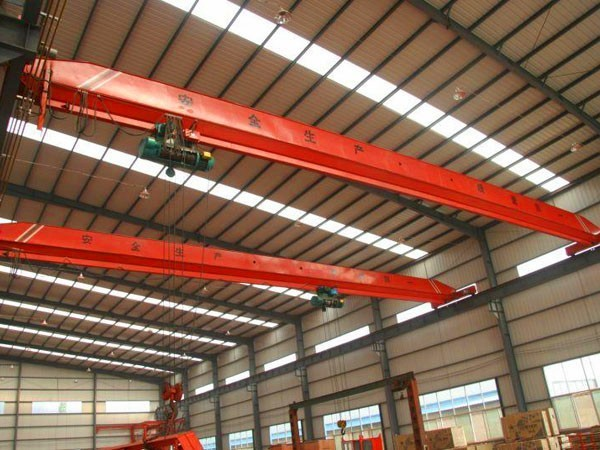 Electric single beam bridge crane 12 ton