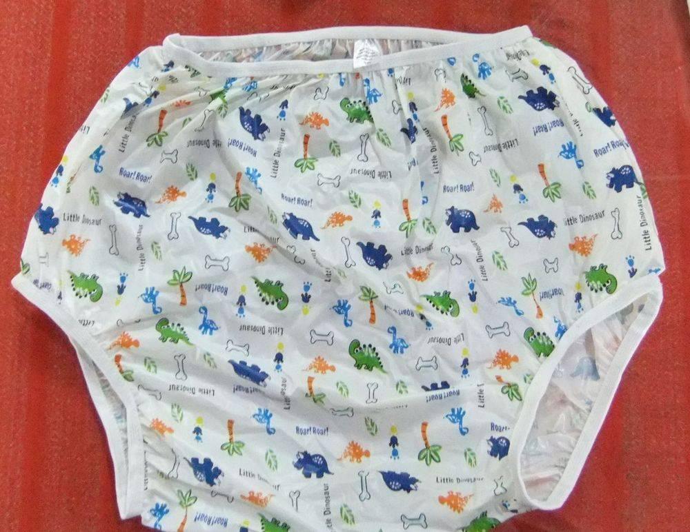 Printed incontinence vinyl pants