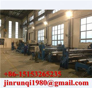 Rubber green belt building machine