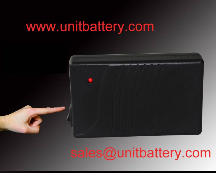OEM/ODM portable rechargeable 12v lithium ion battery with black plastic case for LED strip/Amplifie
