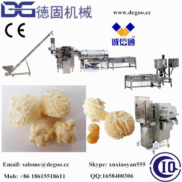 Savory and sweet caramel hot air popcorn machine production line