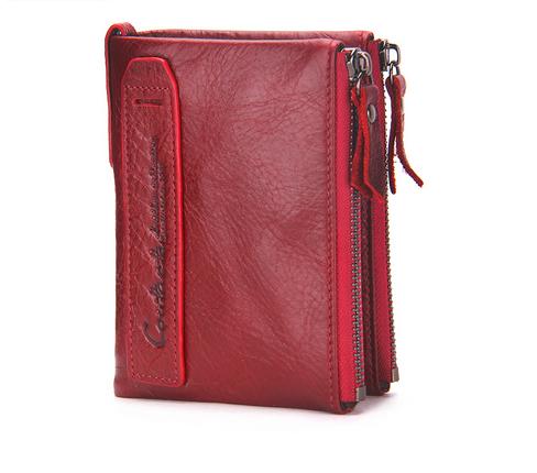 Fashion Genuine Leather Women Wallets Bifold Wallet ID Card Holder