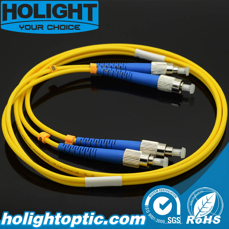Duplex Fiber Optic Patch Cord FC to FC Singlemode 3.0mm