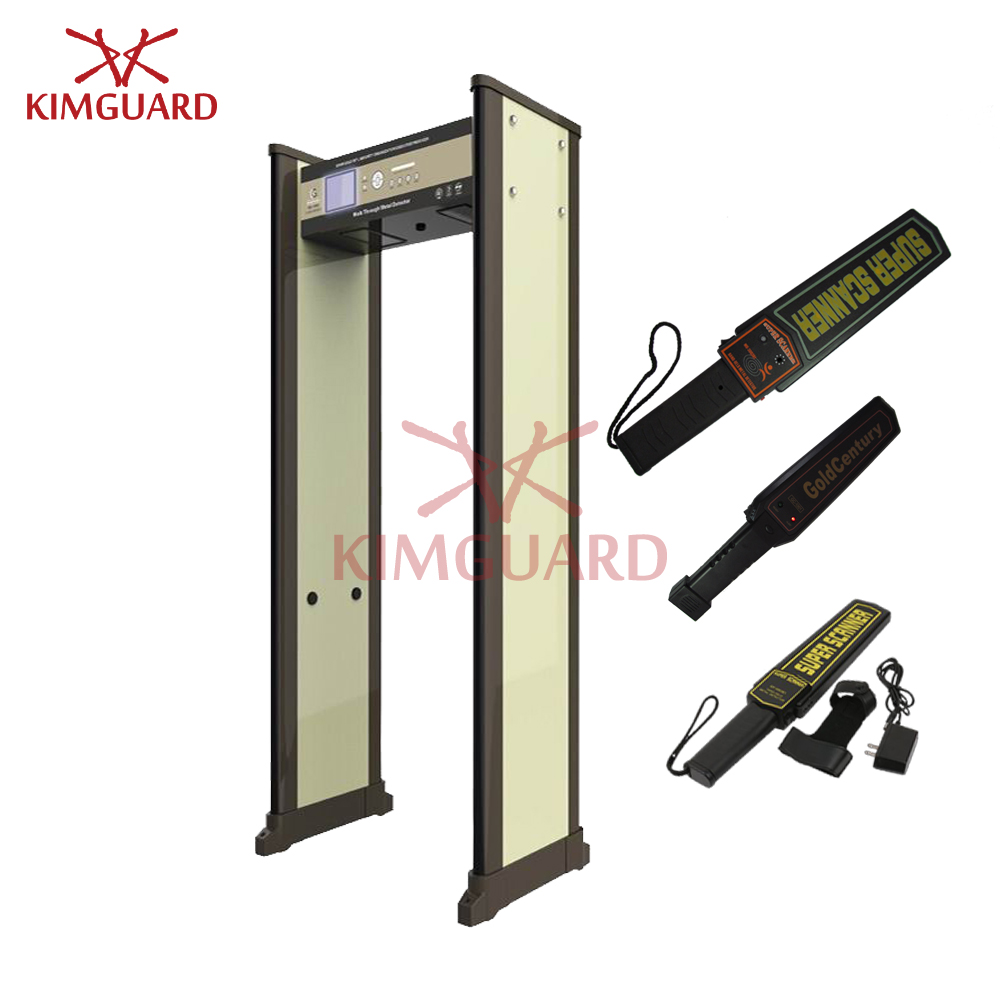 45zone walk through metal detectors with 5.7inch LCD screen