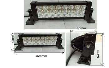 Led worklight, 72w, 10-30V DC aluminium 24pcs 3W light bar for jeep, SUV,ATV driving light  (Led wor