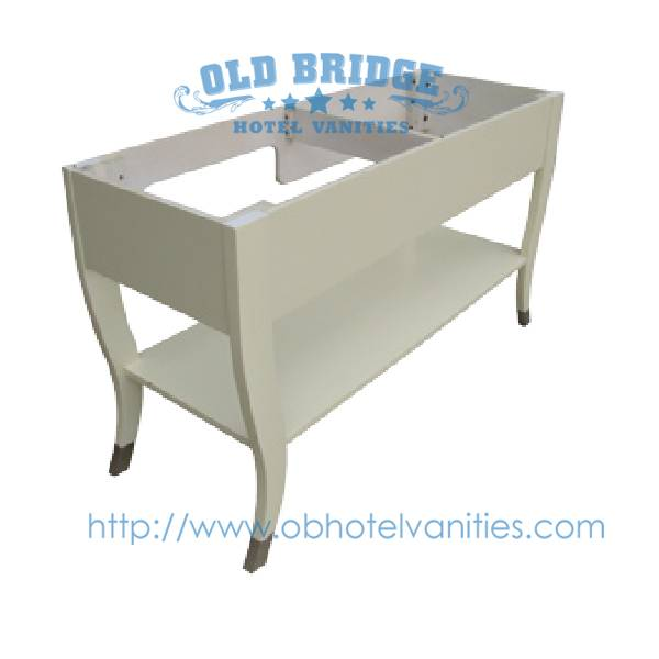 corner vanity cabinet with solid wood legs