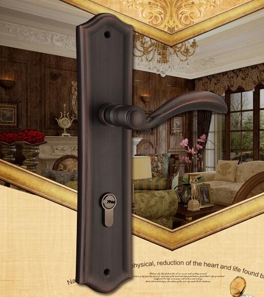 solid brass door handle lock