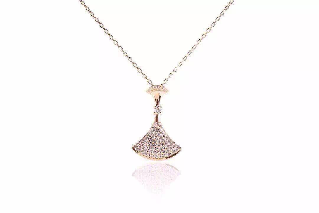 NEFFLY 2016 New design 925 Sterling Sliver 18K Glod Plated beautiful necklace Women Girls for Party