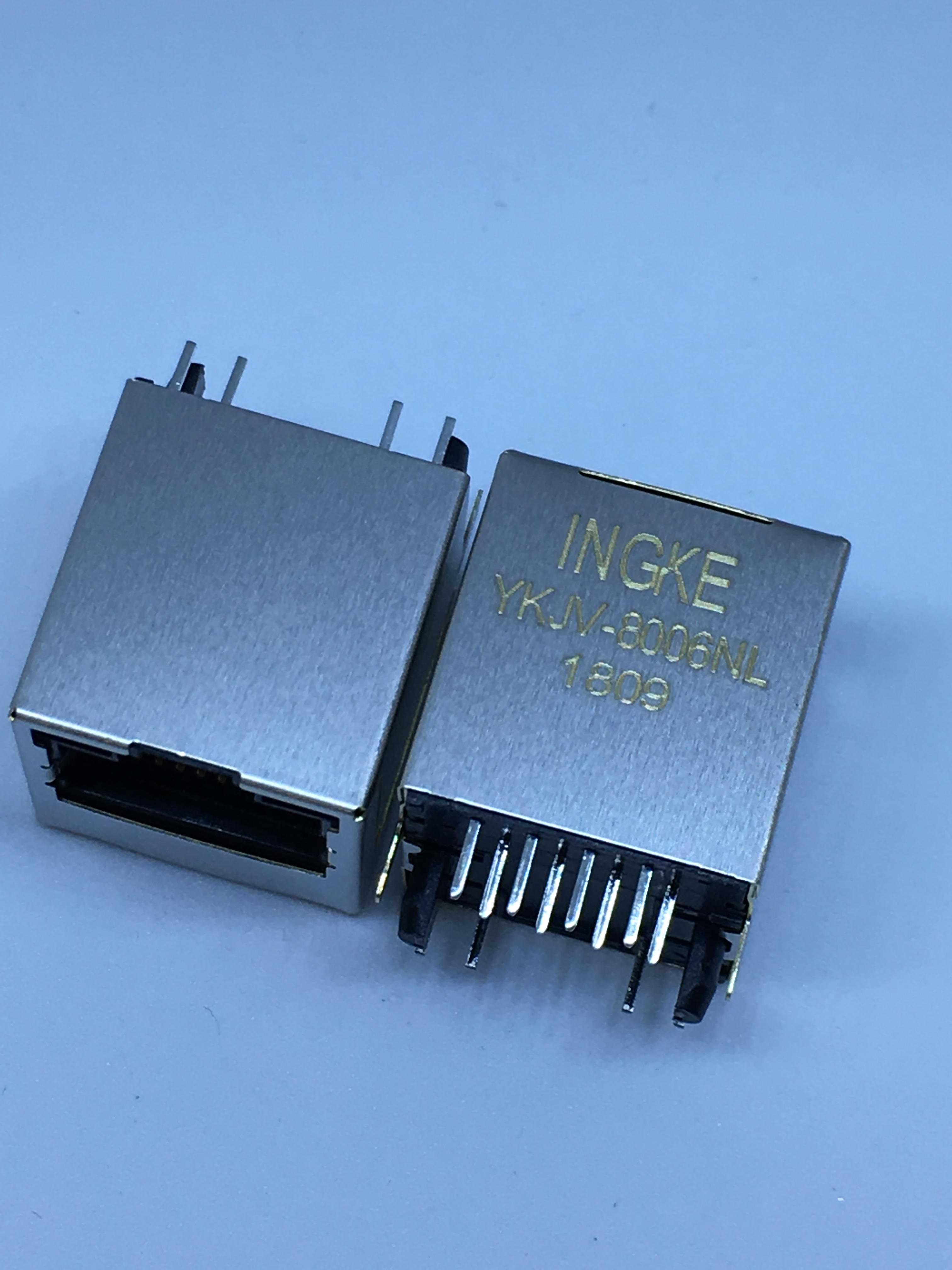 SI-46001-F YKJV-8006NL Vertical RJ45 Magjack Connectors