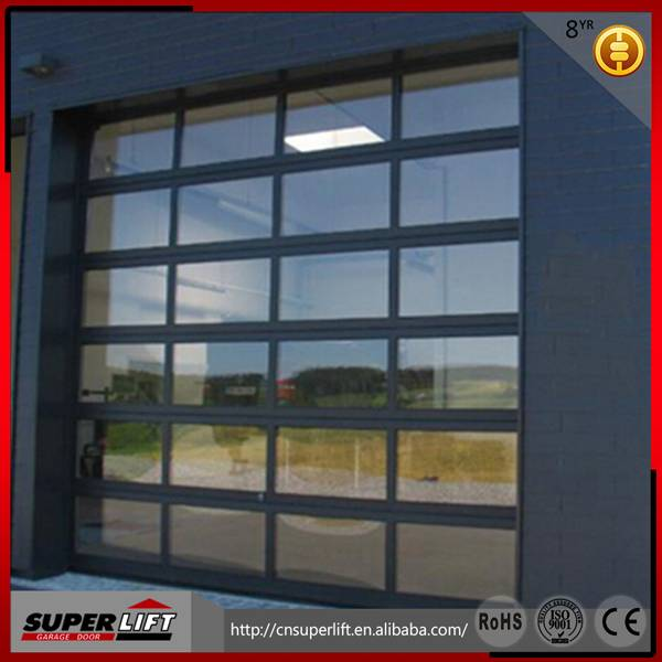 Insulated glass overhead garage door