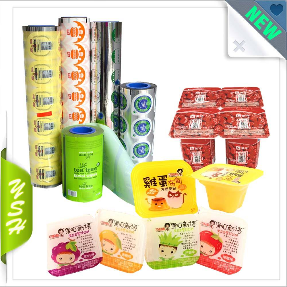 cup sealling plastic film for milk tea packaging