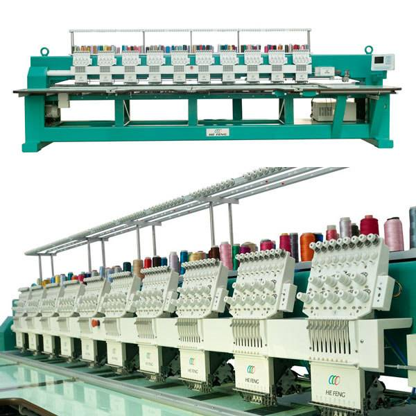 10 heads flat embroidery machine