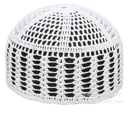 whole sale muslin men hat cotton crochet cap
