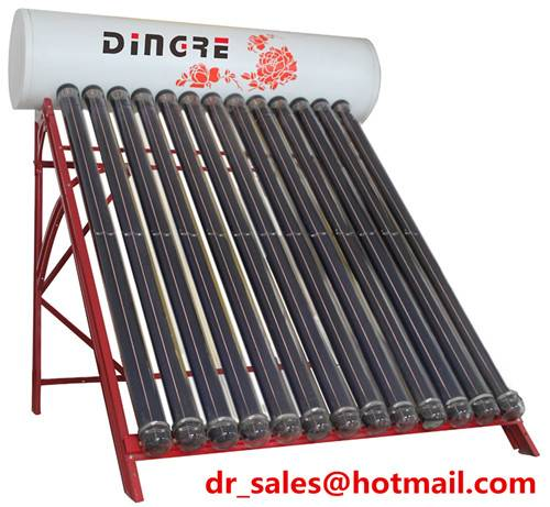 Active solar water heater with 1.5mm galvanized steel frame and non-pressurized water tank