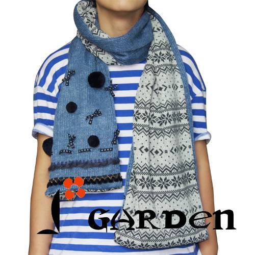 northern europe pattern long fashion scarf knitted scarf