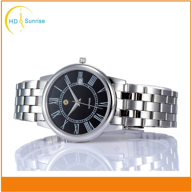 Hot Selling Fashion Style Newest Design Stainless Steel Charm Mens Wrist Watch